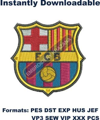 FCB CLUB BARCELONA LOGO EMBROIDERY DESIGN